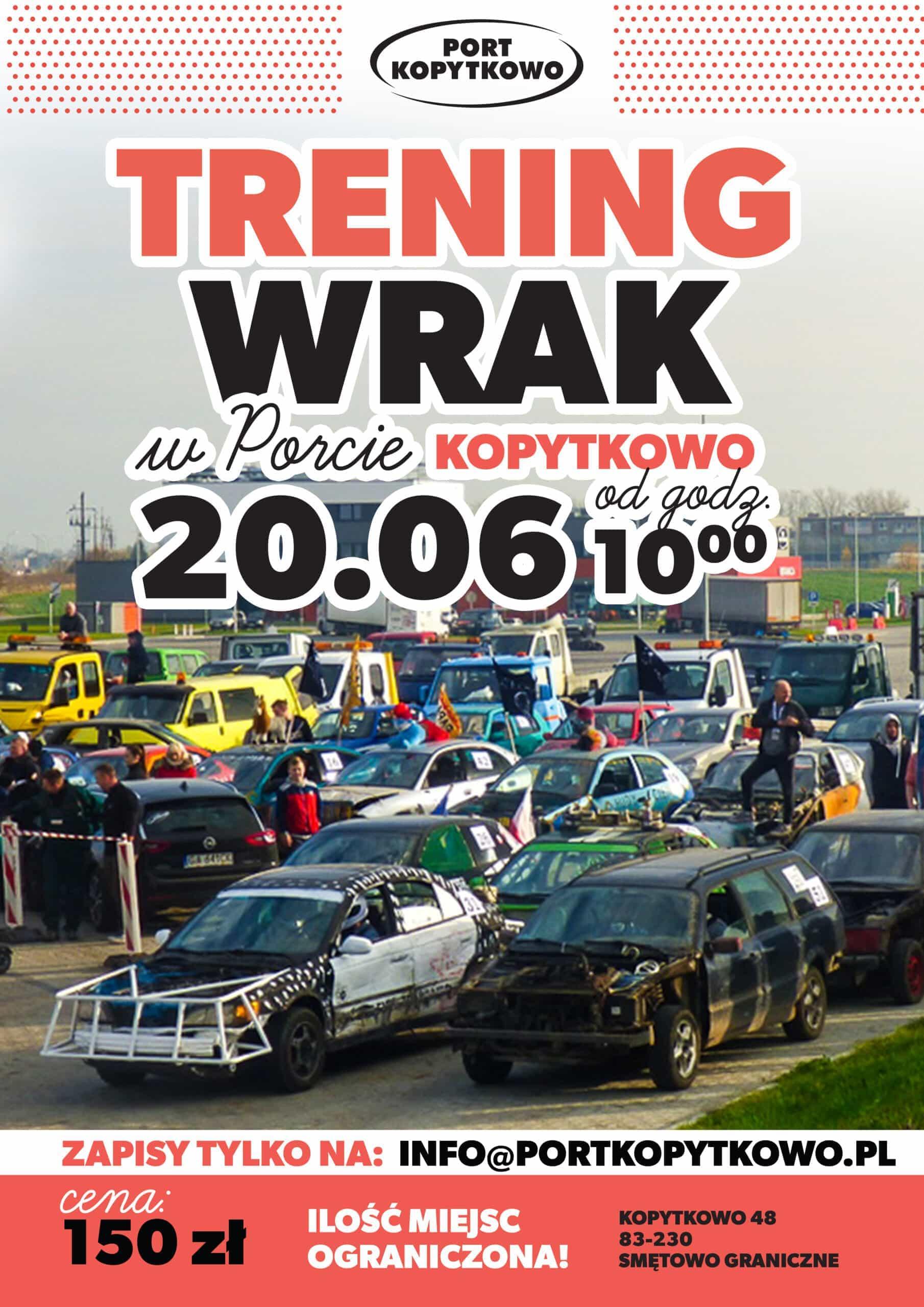Trening Wrak wPorcie Kopytkowo już 20 czerwca!