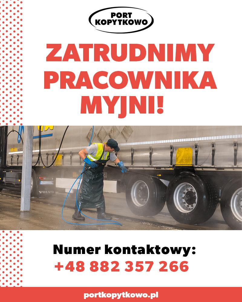 Zatrudnimy pracownika myjni